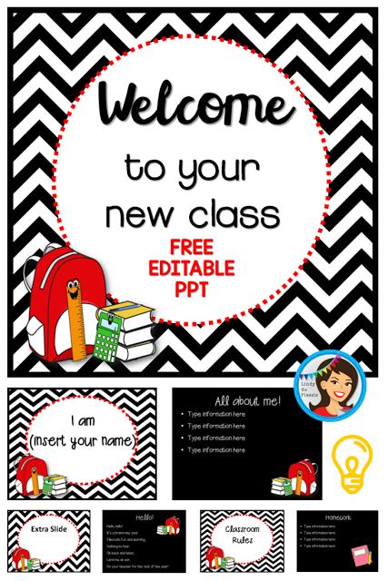 https://www.teacherspayteachers.com/Product/Back-to-School-PowerPoint-Freebie-editable-template-722787