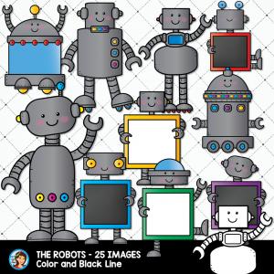 New Clip Art: Rickety Robots + Freebie