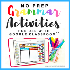 Grammar Activities for Google Classroom™ That Won't Stress You Out!