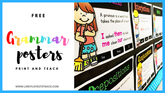 These free grammar posters will look great in your classroom!